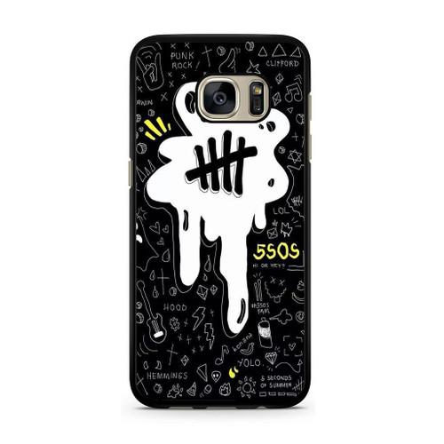 5SOS Melting Samsung Galaxy S7 Case