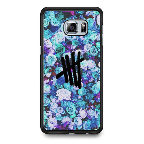 5SOS Logo Natural Flower Samsung Galaxy S6 Edge Plus Case