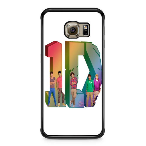 1D Logo Colourfull Samsung Galaxy S6 Edge Case