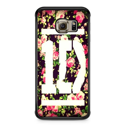 1D Logo Flower Samsung Galaxy S6 Edge Case