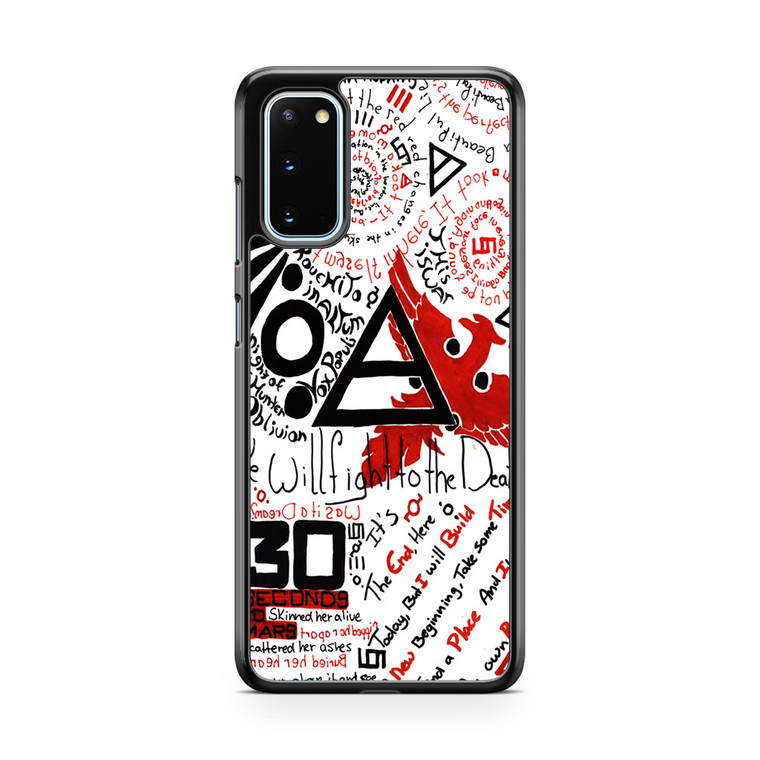 30 Second to Mars Quotes Samsung Galaxy S20 Case