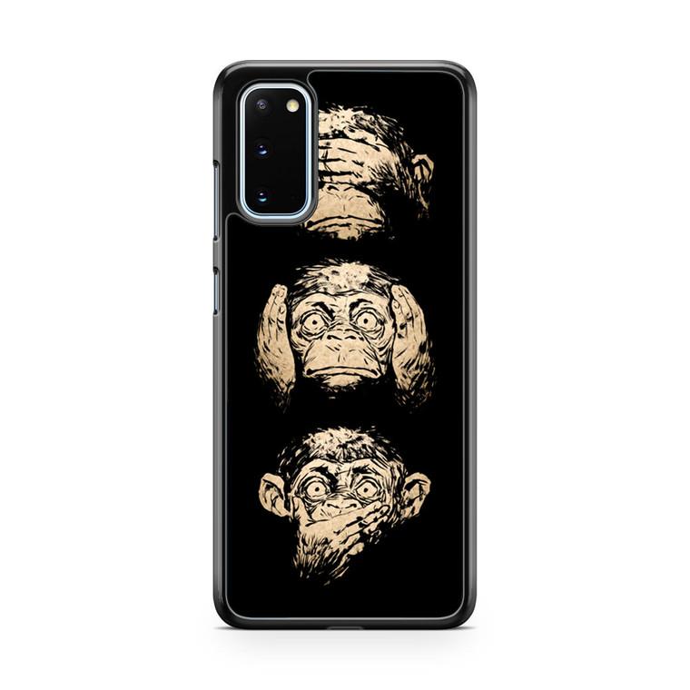 3 Wise Monkey Samsung Galaxy S20 Case