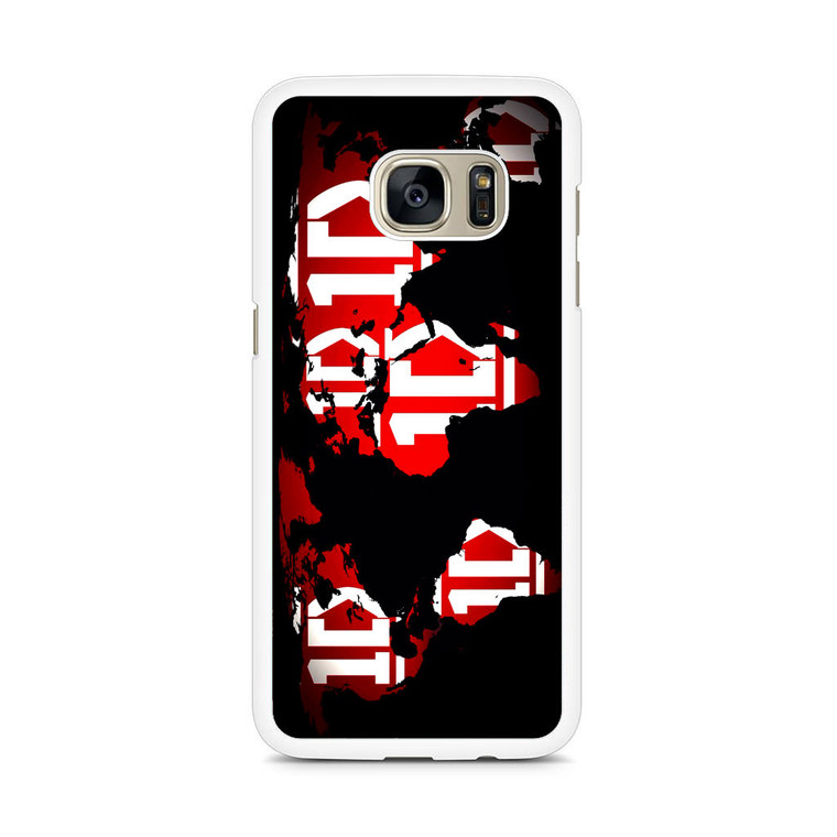 1D Map World Samsung Galaxy S7 Edge Case