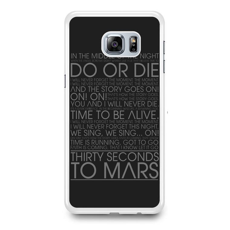 30 Second To Mars Do Or Die Samsung Galaxy S6 Edge Plus Case