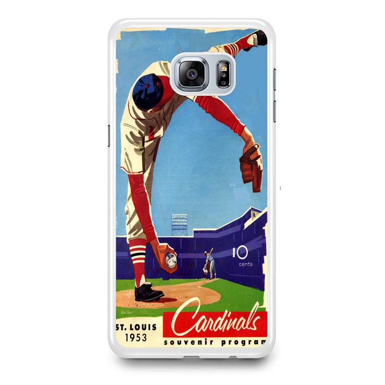 Vintage St Lous Cardinals Scorecard Samsung Galaxy S6 Edge Plus Case