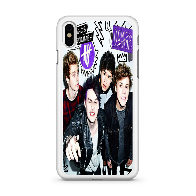 5SOS Poster Don't Stop iPhone X Case