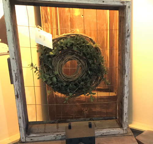 Chicken Wire Drawer with Wreath