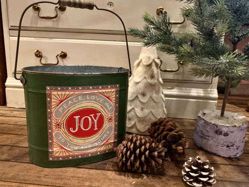Medium Metal Christmas Bucket