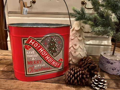 Large Metal Christmas Bucket