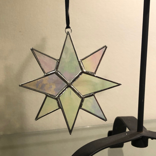 Small Flat Glass Moravian Star