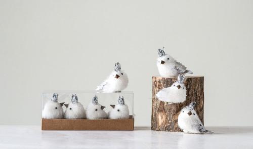 White Bird with Crown