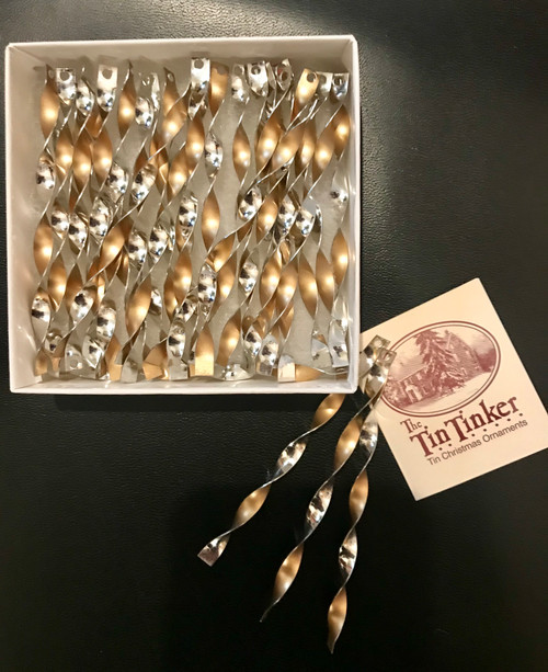 """Gold Icicle Ornaments, 5"""""""