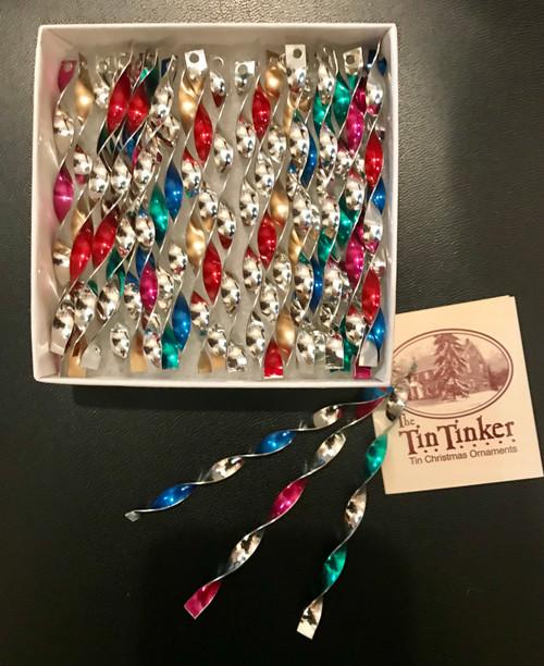 """Multicolored Icicle Ornaments, 5"""""""