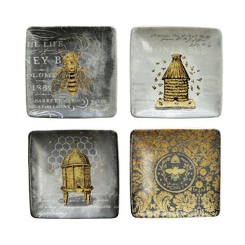 """4"""" Stoneware Bee Dish"""