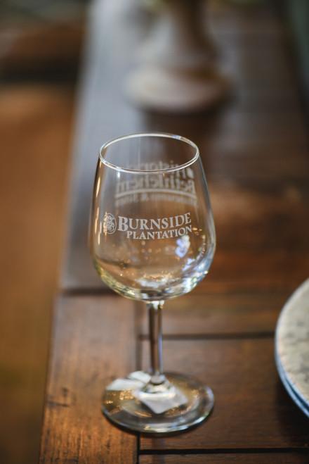 Burnside Plantation Wine Glass