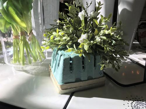 Green Vintage Berry Basket