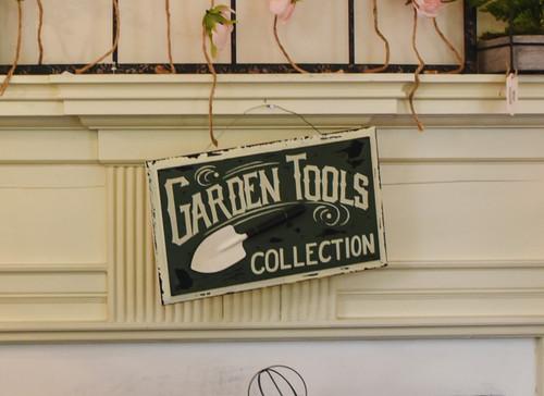 Vintage Garden Tools Sign