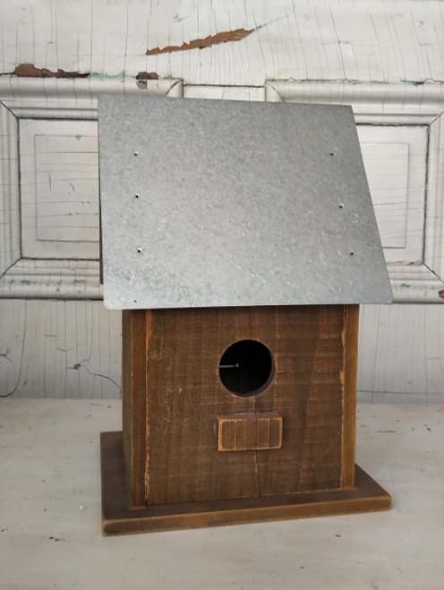 Galvanized Bird House