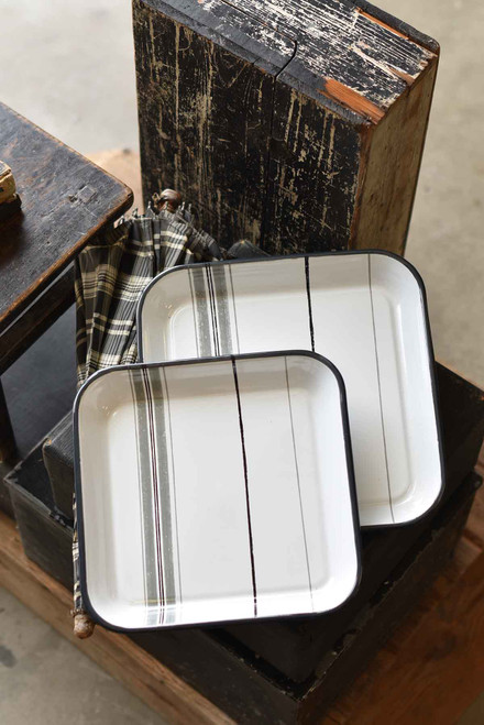 Large Southern Stripes Platter