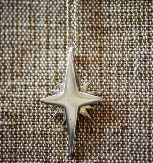Flat Bethlehem Star Pendant - Large