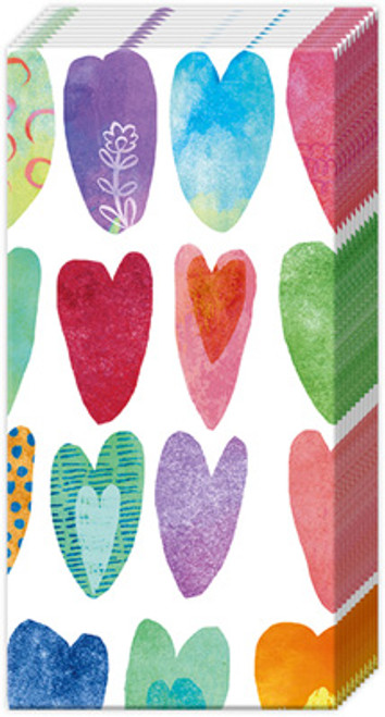 Rainbow Heart Pocket Tissue