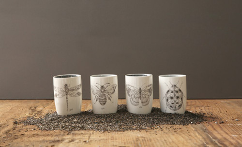 Stoneware Insect Tumblers