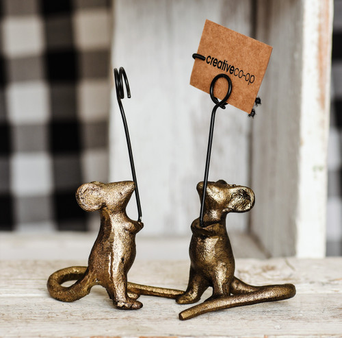 Iron Mouse Place Card Holder