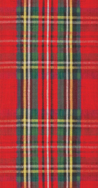 Red Plaid Guest Towel