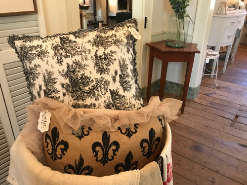Black & White Toile Pillow