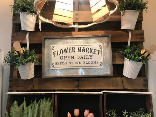 12x20 Flower Market Sign