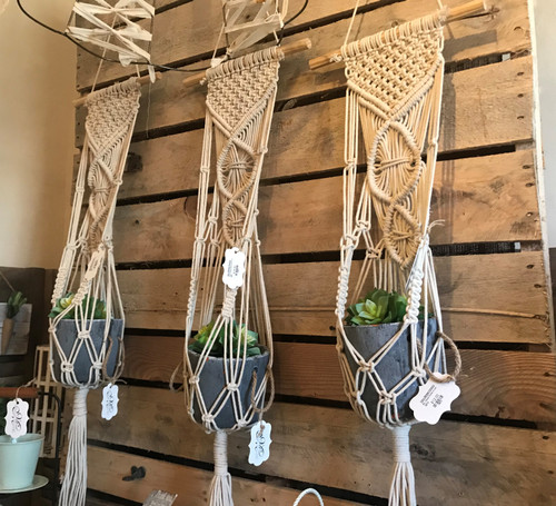 "36"" Hanging Macrame Pot Holder"