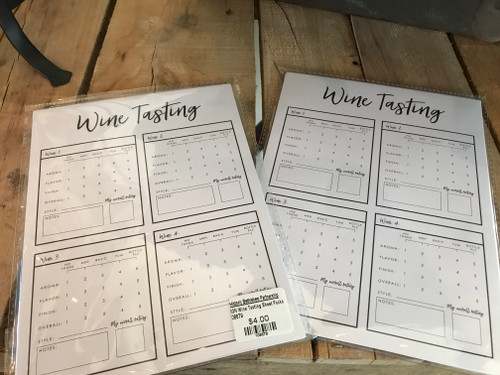 Wine Tasting Sheet Packs