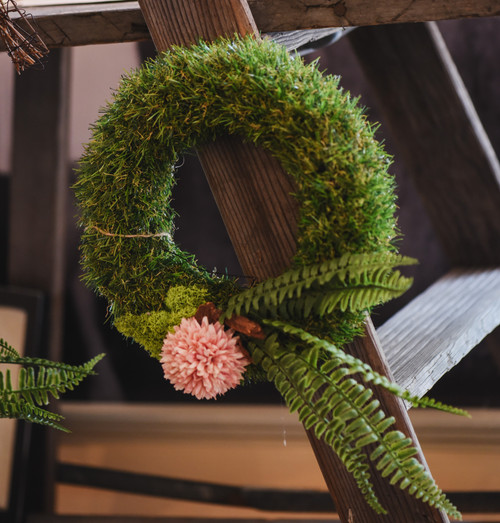 Grass Floral Fern Wreath