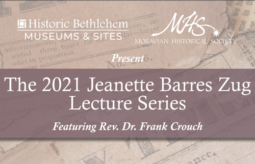 Annual Zug Lecture 2021 - Rev. Dr. Frank Crouch