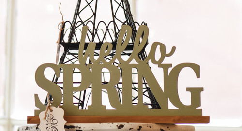 Hello Spring Tabletop Sign