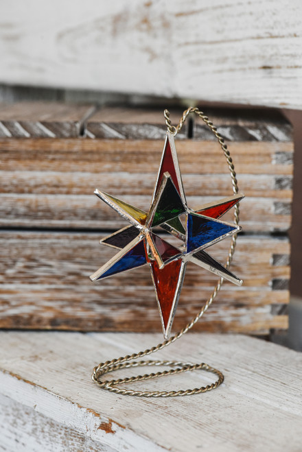 Small Multi-Colored Bethlehem Star