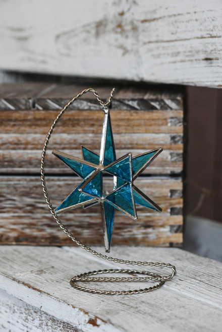 Medium Blue Moravian Star