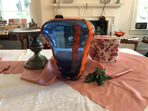 Blue and Orange Vase