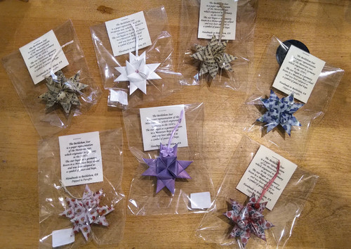 Paraffin Dipped Paper Moravian Star