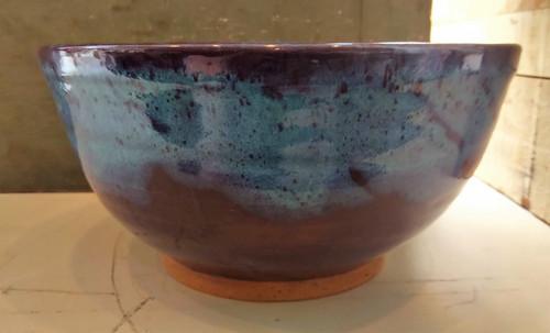 Blue & Purple Ceramic Bowl