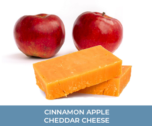 Cinnamon apple cheddar cheese from local Keystone Farms Cheese and available at the Apple Days  & Market To Go in Bethlehem.