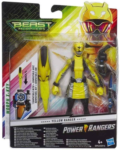 Power Rangers Power Rangers E5943ES1 Beast Morphers Yellow Ranger 6-inch Action Figure Toy, Multicolour