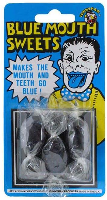 Blue Mouth Sweet of Novelty Joke Gag Tricks for Party Bag Filler Favor or Prank etc...