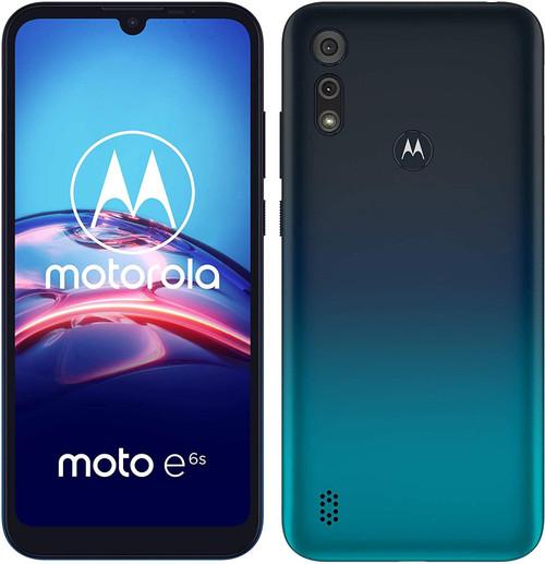 "Motorola Moto E6s - Smartphone - dual-SIM - 4G LTE - 32 GB - microSDXC slot - GSM - 6.1"" - 1560 x 720 pixels (282 ppi) - IPS - RAM 2 GB - (5 MP front camera) - 2x rear cameras - Android - peacock blue"