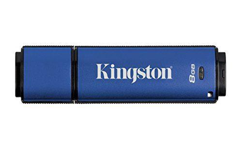 Kingston DataTraveler Vault Privacy 3.0 8GB  DTVP30, 256bit AES Encrypted USB 3.0