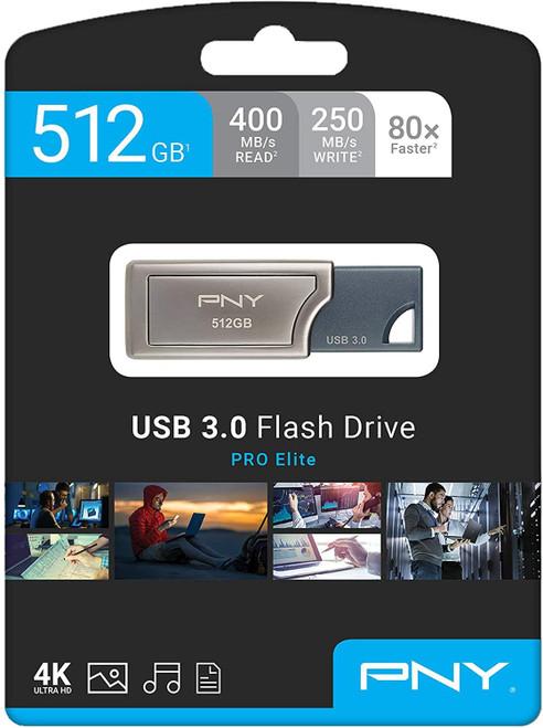PNY PRO Elite - USB flash drive - 512 GB - USB 3.0