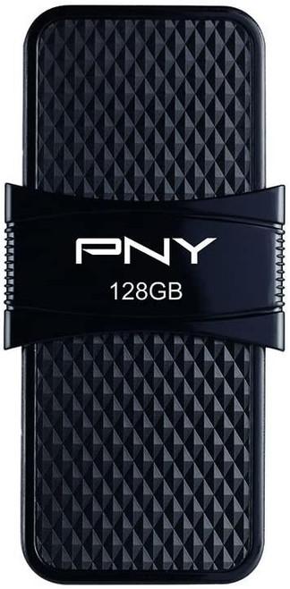 PNY Duo-Link On-the-Go - USB flash drive - 128 GB - USB 3.1 / USB-C