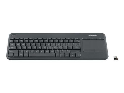 Logitech Wireless Touch Keyboard K400 Plus - Keyboard - wireless - 2.4 GHz - English