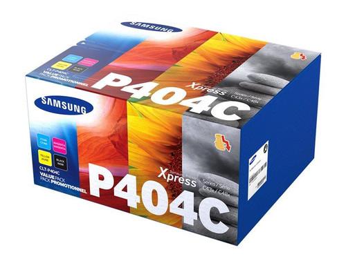 Samsung CLT-P404C - 4-pack - black, yellow, cyan, magenta - original - toner cartridge (SU365A) - for Samsung CLX-3302, 3303, 3304, 3307, Xpress SL-C432, C433, C462, C463, C467, C482, C483