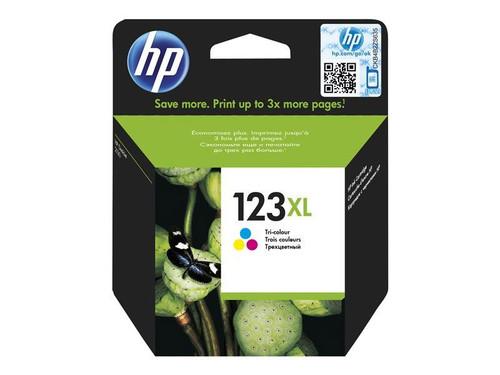 HP 123XL - Colour (cyan, magenta, yellow) - original - ink cartridge - for Deskjet 2130, 26XX, 36XX, 37XX, Envy 45XX, 50XX, Officejet 38XX, 46XX, 52XX